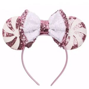Minnie Mouse Candy Swirl Sequin Headband with Bow